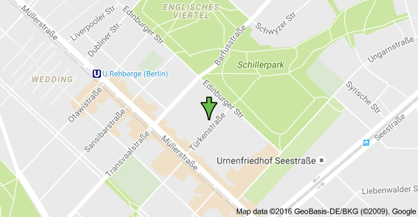 We are on Türkenstraße. Just 2 minutes from Shillerpark !